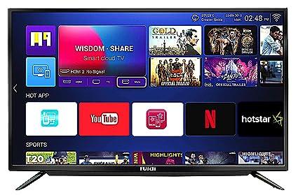 Huidi 140 cm (55 Inches) 4K Ultra HD Smart LED TV HD58D8M18 (Black) (2018  Model)
