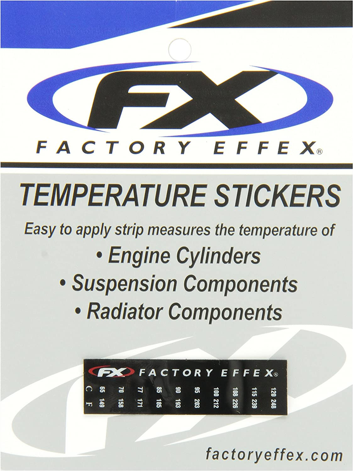 Factory Effex 08-90225 Temp Specialty Sticker, Pack of 3