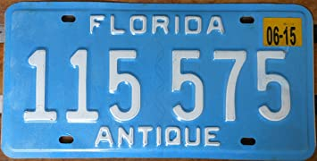 Florida State License Plate \u0026quot; Antique\u0026quot; with White Letters ... & Amazon.com : Florida State License Plate \