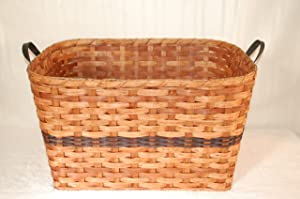 Amish Country Collectible Large Laundry Basket. Make Yet Another Great Addition to Your Rustic Country Home Decor with This Amish Handmade Basket. You Will Be the Hit of the Party When You Fill It with Goodies and Give It As a Unique Gift Basket. However You Use It, You'll Love It. Colors May Vary (Brown, Black, Red, Blue, Green, Purple, Burgundy, Natural)