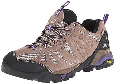 Merrell Capra Waterproof Taupe Trail Running Shoes