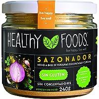Healthy Foods Sazonador en Polvo Hecho a Base de Verduras Deshidratadas y Cúrcuma, 240 g