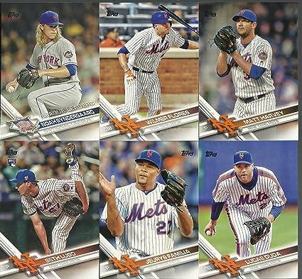 ccf6f80f6aa 2017 Topps Series 1   2 New York Mets Team Set 27 Cards David Wright ...