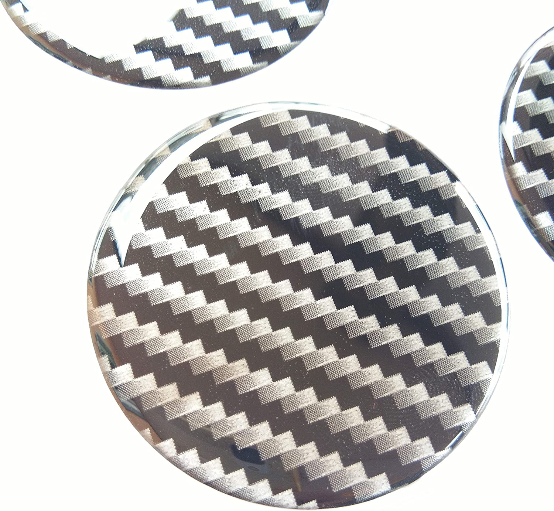 70 mm Domed Wheel Cap Hub Decal Decals Center Plain Kevlar Carbon Fiber 4 Pcs Gloss 3D Gel Rear Resin Motorcycle Sticker Badge Trunk Truck Rims Black All Series Racing Automotive 7 cm