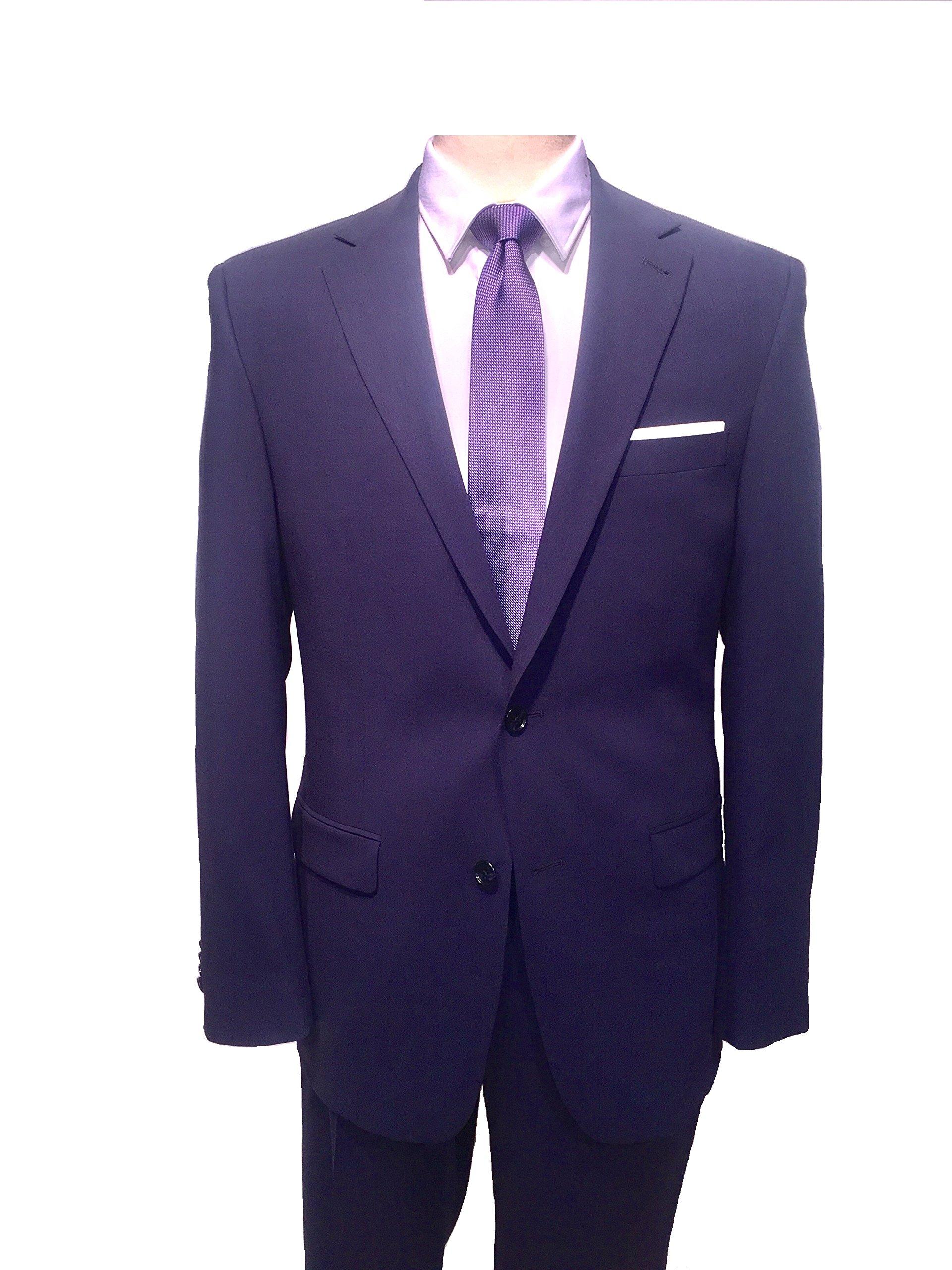 S. Cohen Men's Travel, Modern Fit Smart Suit 46 Long Blue