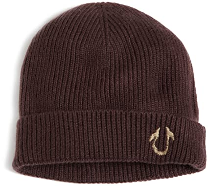 21c28393 Image Unavailable. Image not available for. Color: True Religion Men's  Solid Watch Cap, Brown, One Size