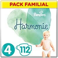 Pampers - Harmonie - Couches Taille 4 (9-14 kg) - Pack Familial(112 couches)
