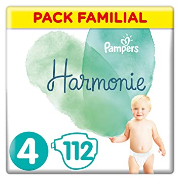 Pampers Harmonie Couches Taille 4 9 14 Kg Pack Familial 112