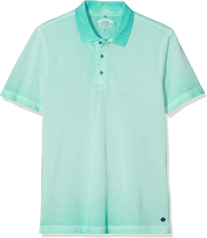 Pierre Cardin Poloshirt Premium Cotton Pique Cold Dyed Denim ...