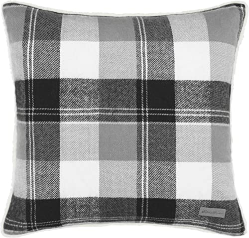 Eddie Bauer Lodge Grey Plaid Throw Pillow, 20 x 20