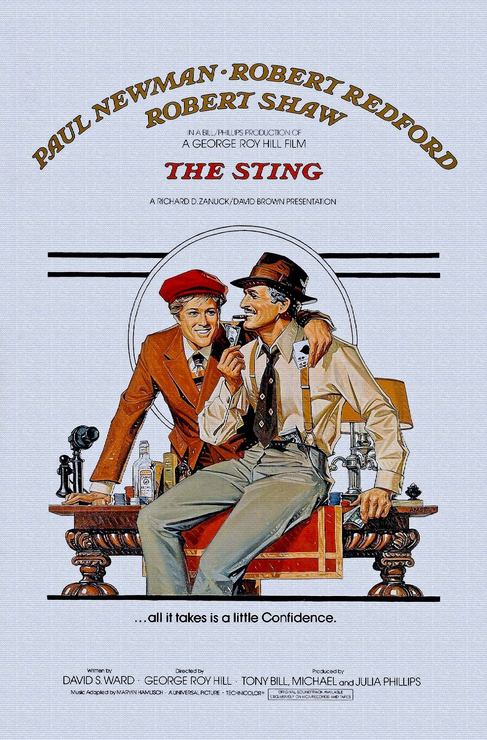 ODSAN The Sting, Paul Newman, Robert Redford, Robert Shaw ...