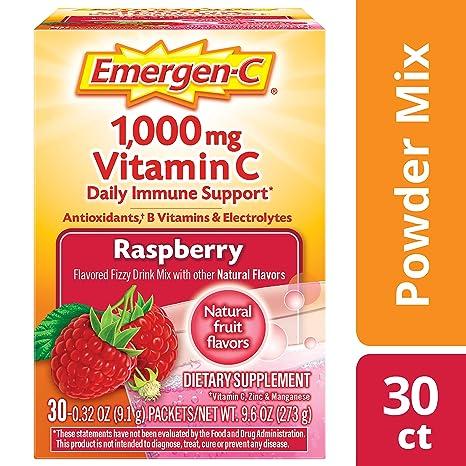 Emergen-C Dietary Supplement Drink Mix with 1000 mg Vitamin ...
