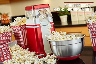 Andrew James Classic Retro Hot Air Popcorn Maker