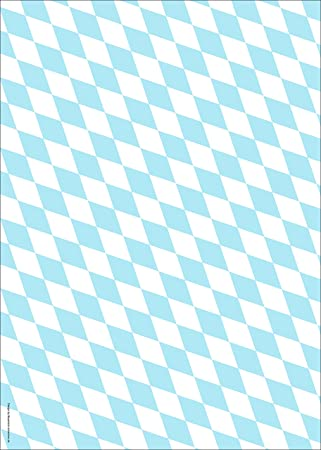Bayerisch-schenken Papier Rautenmuster Bayern: Amazon.de: Küche ...