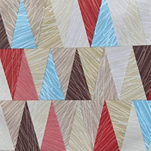 """willikiva Waterproof Quilting Fabric DIY Sewing Crafts Printed Indoor Outdoor UpholsteryFabricbyTheYard 36""""(91.44CM) x 57""""(146CM)(Triangle)"""