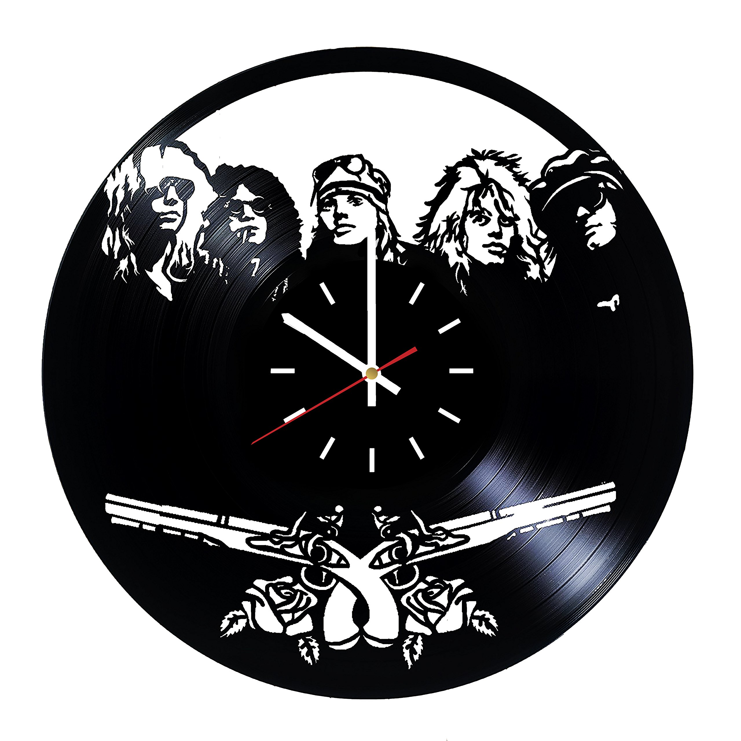 Everyday Arts Guns N' Roses American Hard Rock Band Design Vinyl Record Wall Clock - Get Unique Bedroom or Garage Wall Decor - Gift Ideas for Friends, Brother - Darth Vader Unique Modern Art
