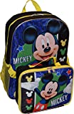 "Disney Mickey Mouse 16"" Backpack W/ Detachable Lunch Box"