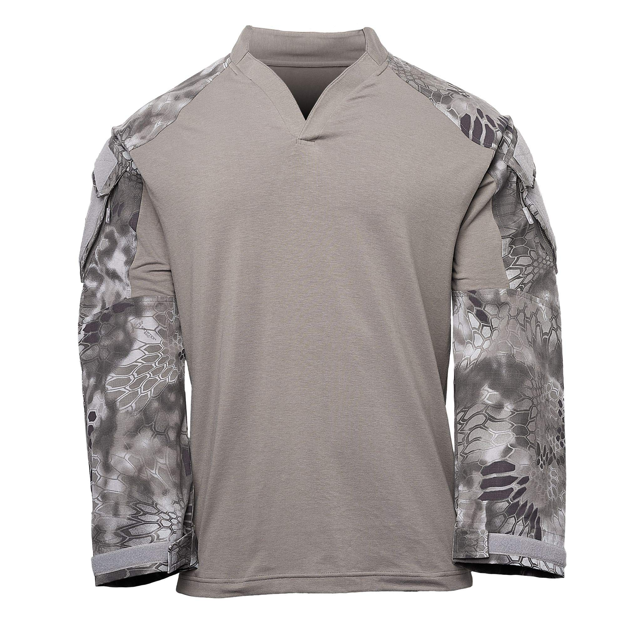 Kryptek Tactical LS Rugby Long Sleeve Shirt (Tactical Collection), Dark Charcoal/Raid, M by Kryptek