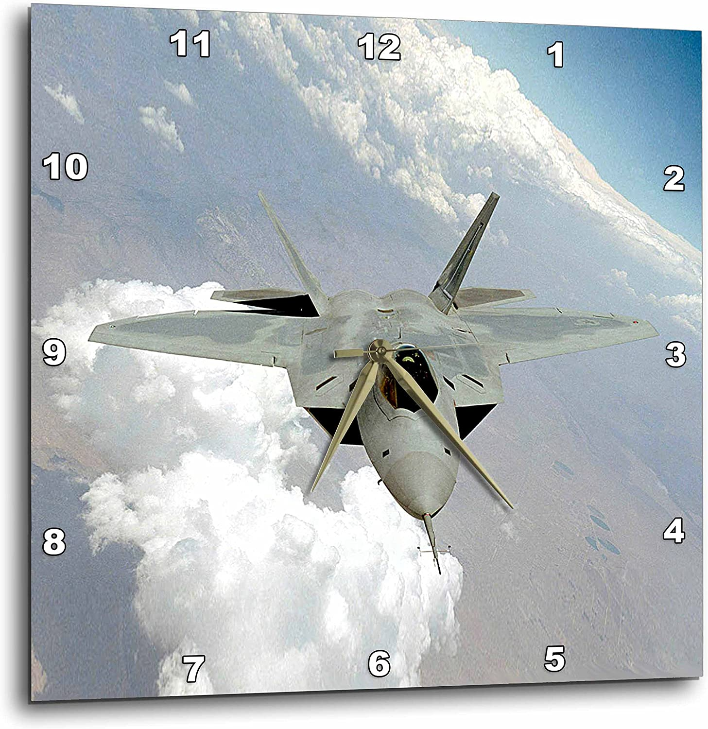 13 by 13-Inch 3dRose dpp/_13894/_2 Air Force-Wall Clock