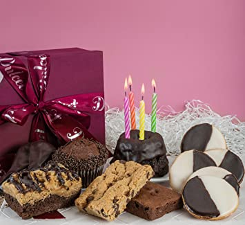 Dulcet Gift Baskets Birthday Chocolate Celebration Gourmet Unique Elegant Box For Men Women Kids