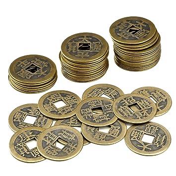 Amazonde Wxj13 1 Box 50 Stück Feng Shui Chinesische Münzen Alten