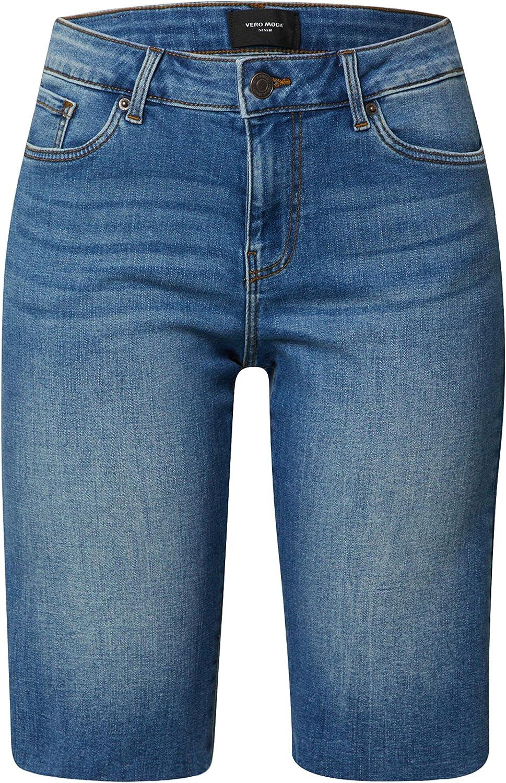 Vero Moda Vmlaura HR Loo Knot Belt Long Shorts GA Bermudas Femme
