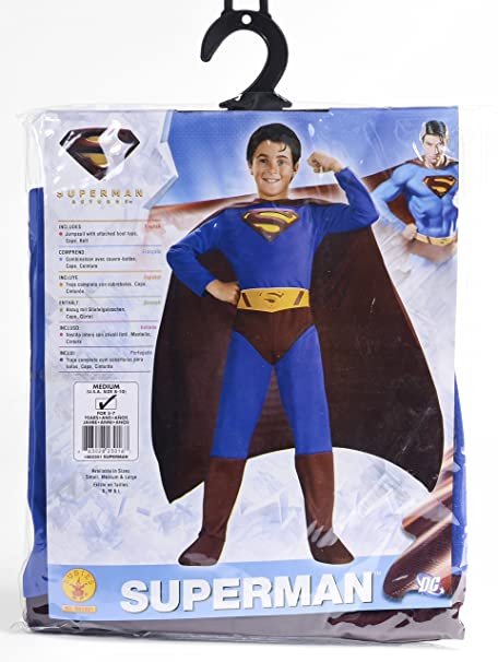 Amazon.com: ENVI Rubies Superman Costume Fancy Dress Up ...