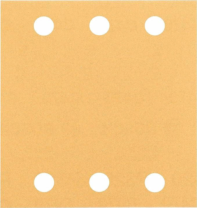 Bosch 2 608 607 457 - Juego de 10 hojas lijadoras (115 x 107 mm, 80)
