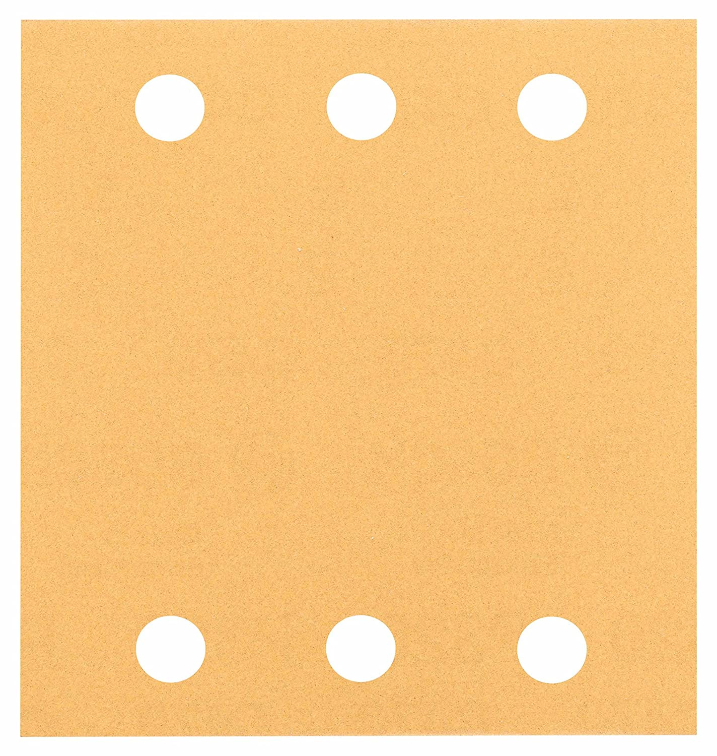 Bosch 2608607458 Sanding Sheets for Orbital Sanders, Best for Wood, 6 holes-120 grit, 115 x 107 mm