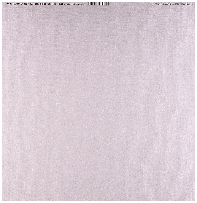 Cartoncini Bazzill 12'X 12'-Romance/tela BAZ309005