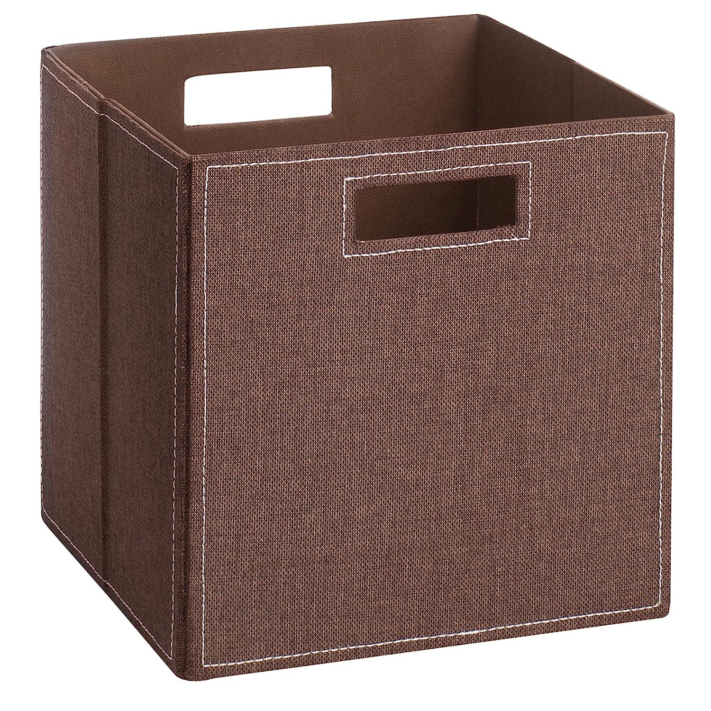 (H&S) Aufbewahrungsbox LUC - Faltbox - Korb - Leinen - 28x28x28 cm - (Petrol) Schmetsdorf