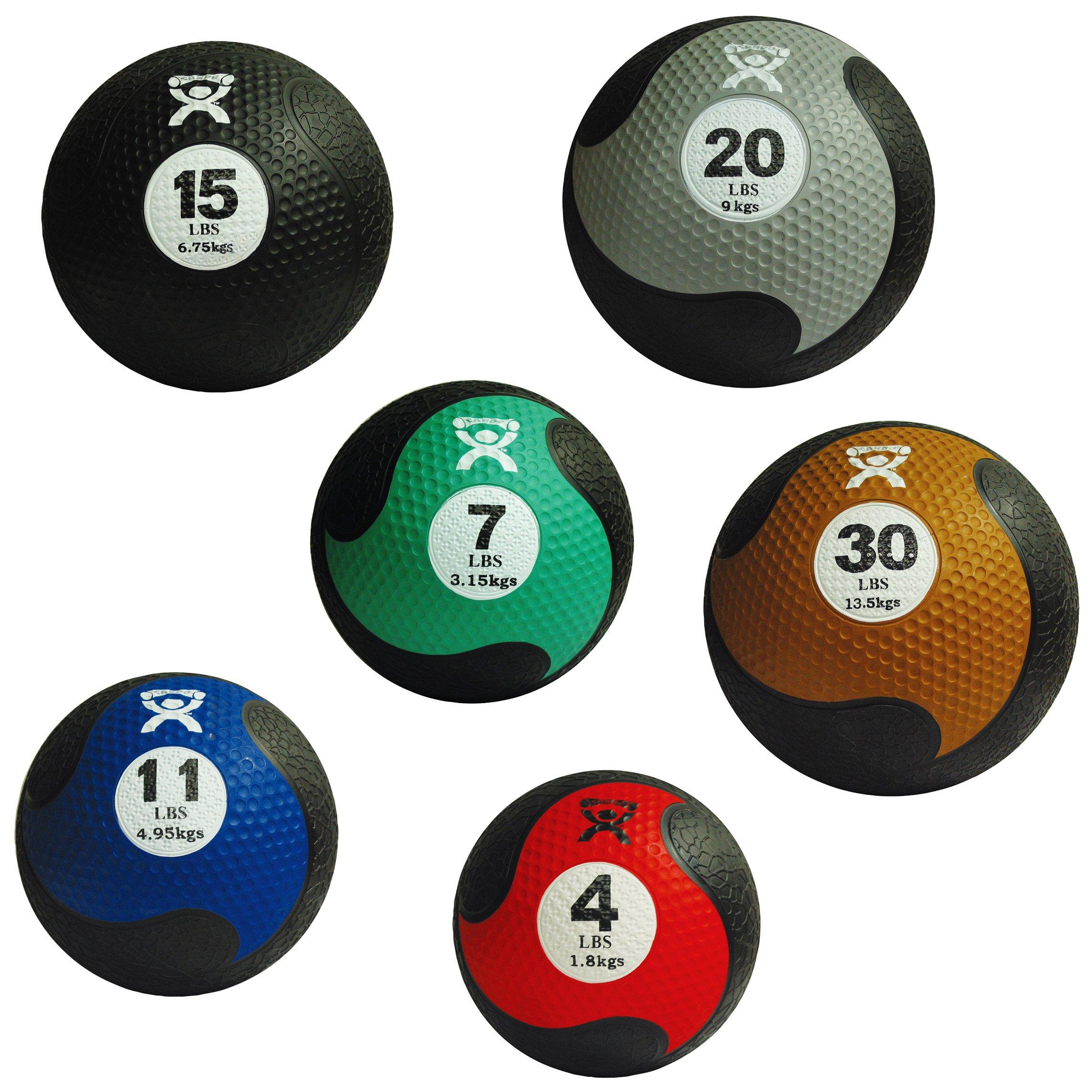 Cando Firm Fitness Medicine Balls - 6-Piece Bundle - 1 Each: 4, 7, 11, 15, 20, 30 LB by Cando (Image #1)