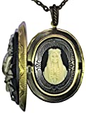 The Holy Black Rose of Santa Muerte Cameo Charm