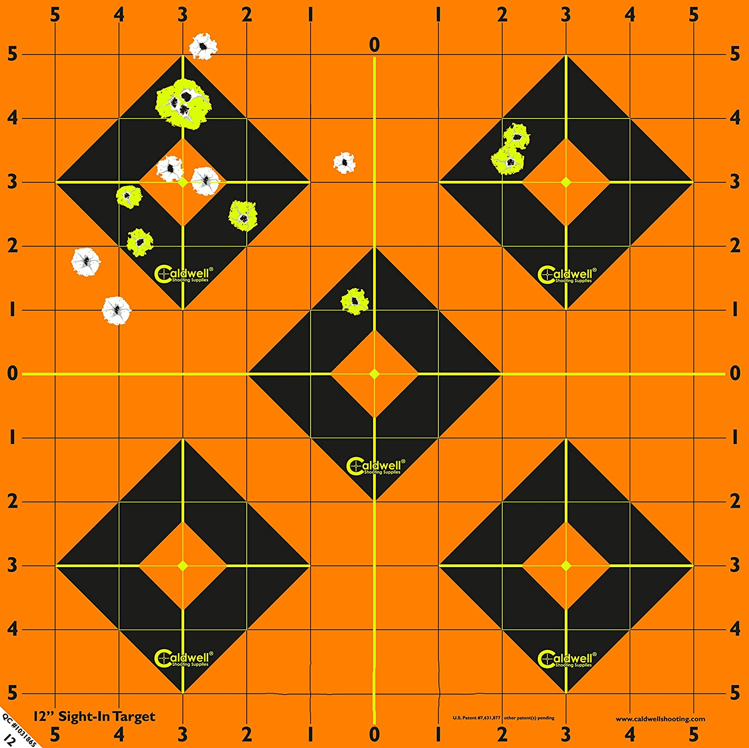 Caldwell Orange Peel 12 Inch Sight-In Targets, 5 Pack : Hunting Targets And Accessories : Sports & Outdoors