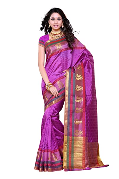 2213f228be MIMOSA Silk Saree With Blouse Piece(191-Lmej_Light Magenta_Free Size):  Amazon.in: Clothing & Accessories
