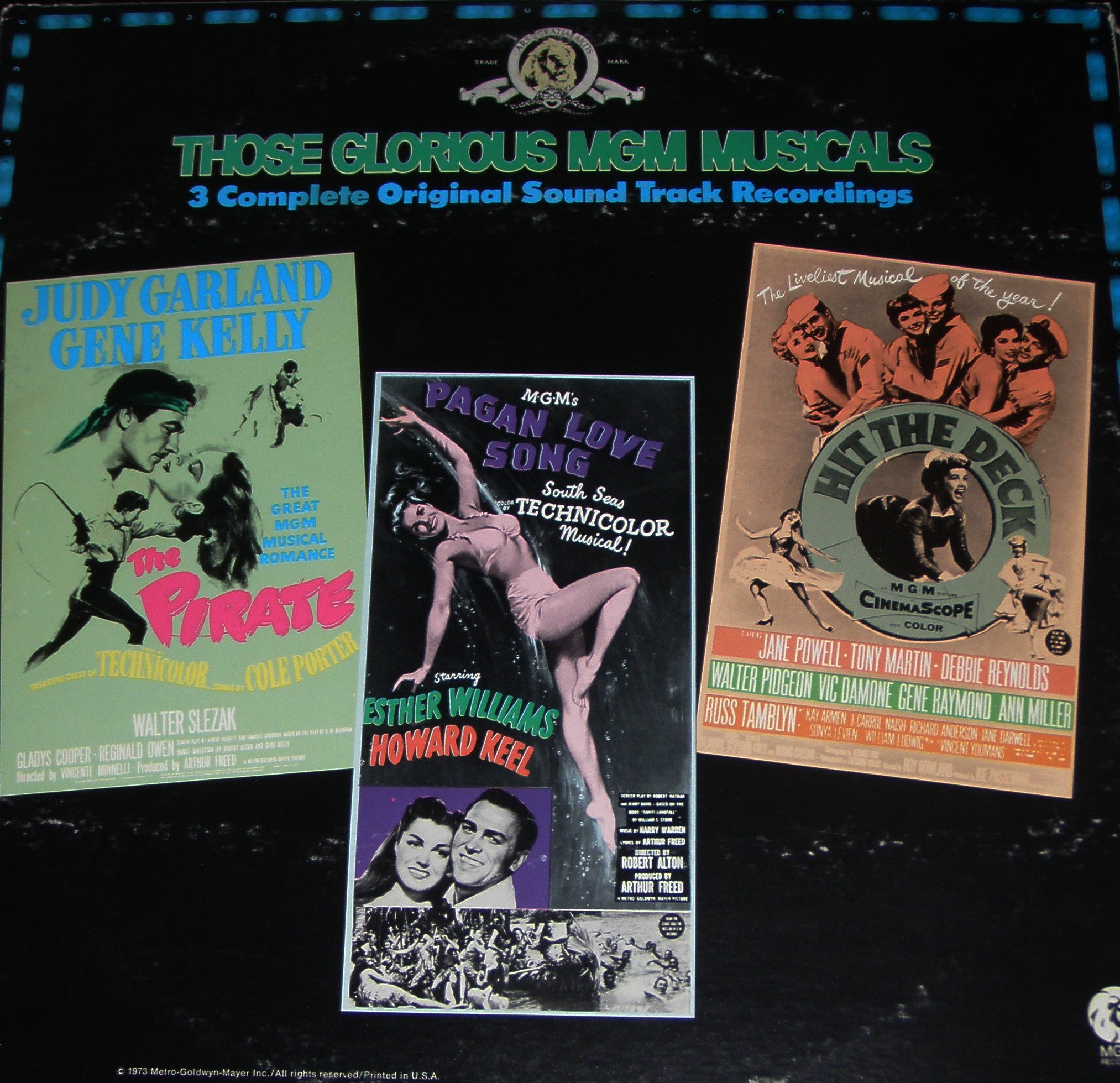 Those Glorious MGM Musicals, 3 soundtracks, the