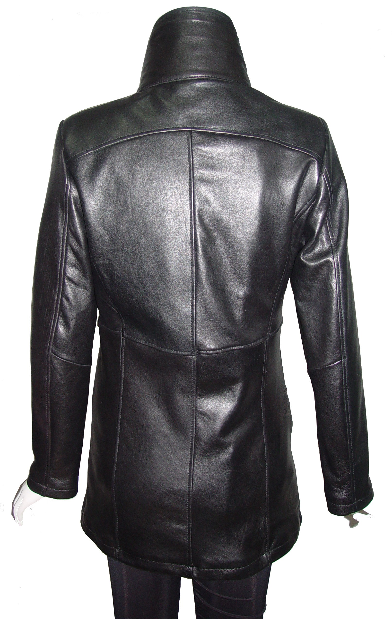 Paccilo Winter Womens 4182 PETITE & ALL SIZELamb Stadium Leather Jacket by Paccilo (Image #3)