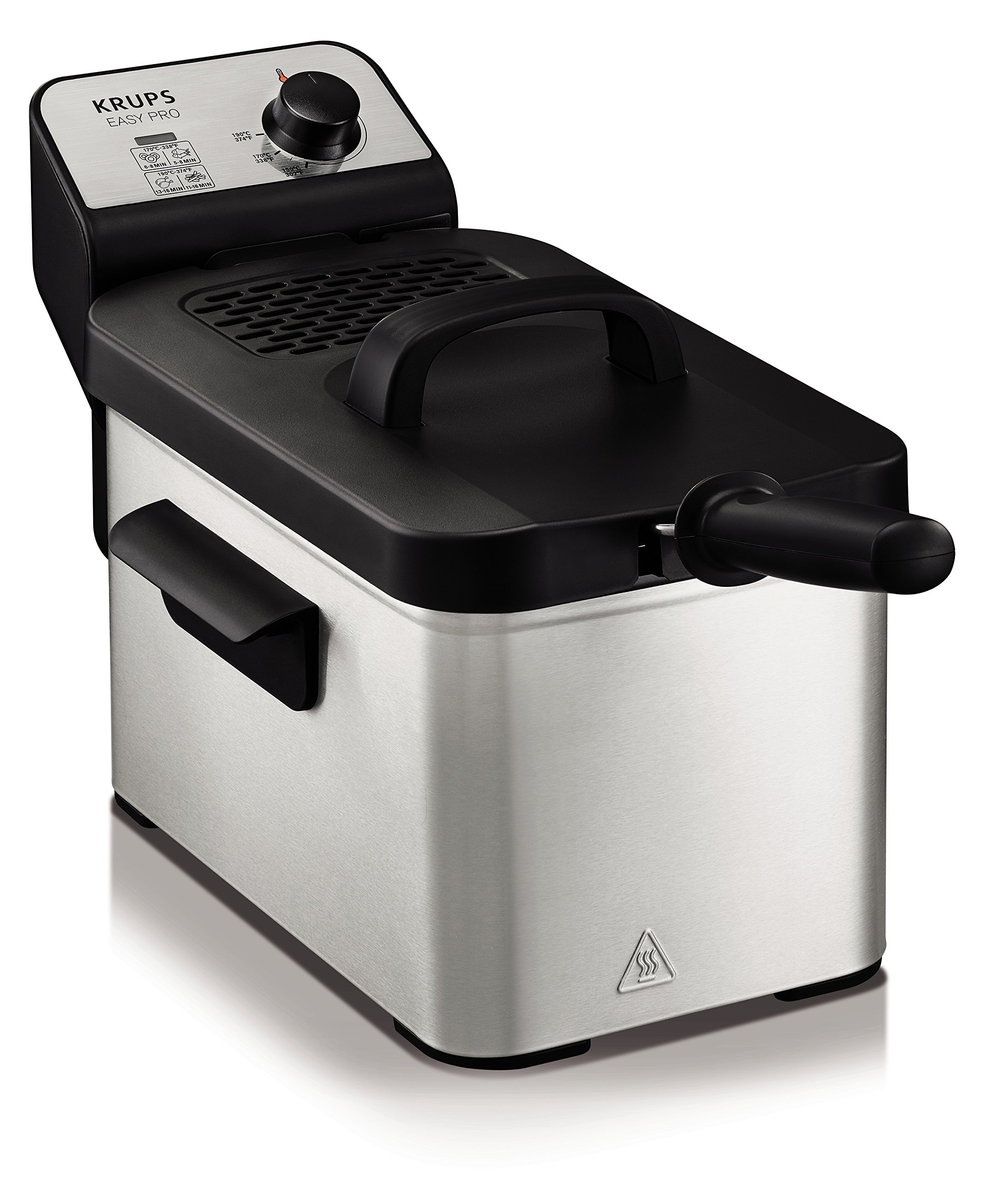 Krups KJ33 Easy Pro 2.5 L Deep-Fryer with Snack Accessory with Food Presets and Timer, Stainless Steel