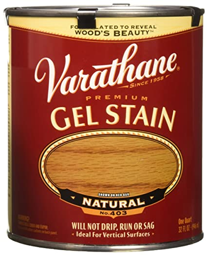 Varathane 224453h Premium Gel Stain Quart Natural