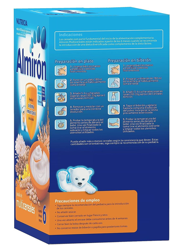 Almirón Papilla de multicereales a partir de 6 meses - Paquete de 2 x 250 g- Total: 500 g: Amazon.es: Alimentación y bebidas