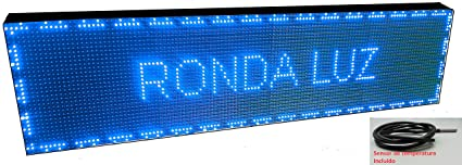 Cartel LED programable con Sensor de Temperatura y Reloj ...