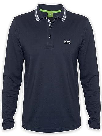 BOSS Hugo Green Camisa de Polo Plisy Apto Moderno Negro: Amazon.es ...