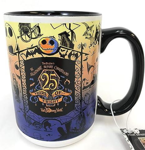 Nightmare Before Christmas Coffee Mug.Disney Nightmare Before Christmas 25 Years Of Fright Anniversary Coffee Cup Heat Reactive