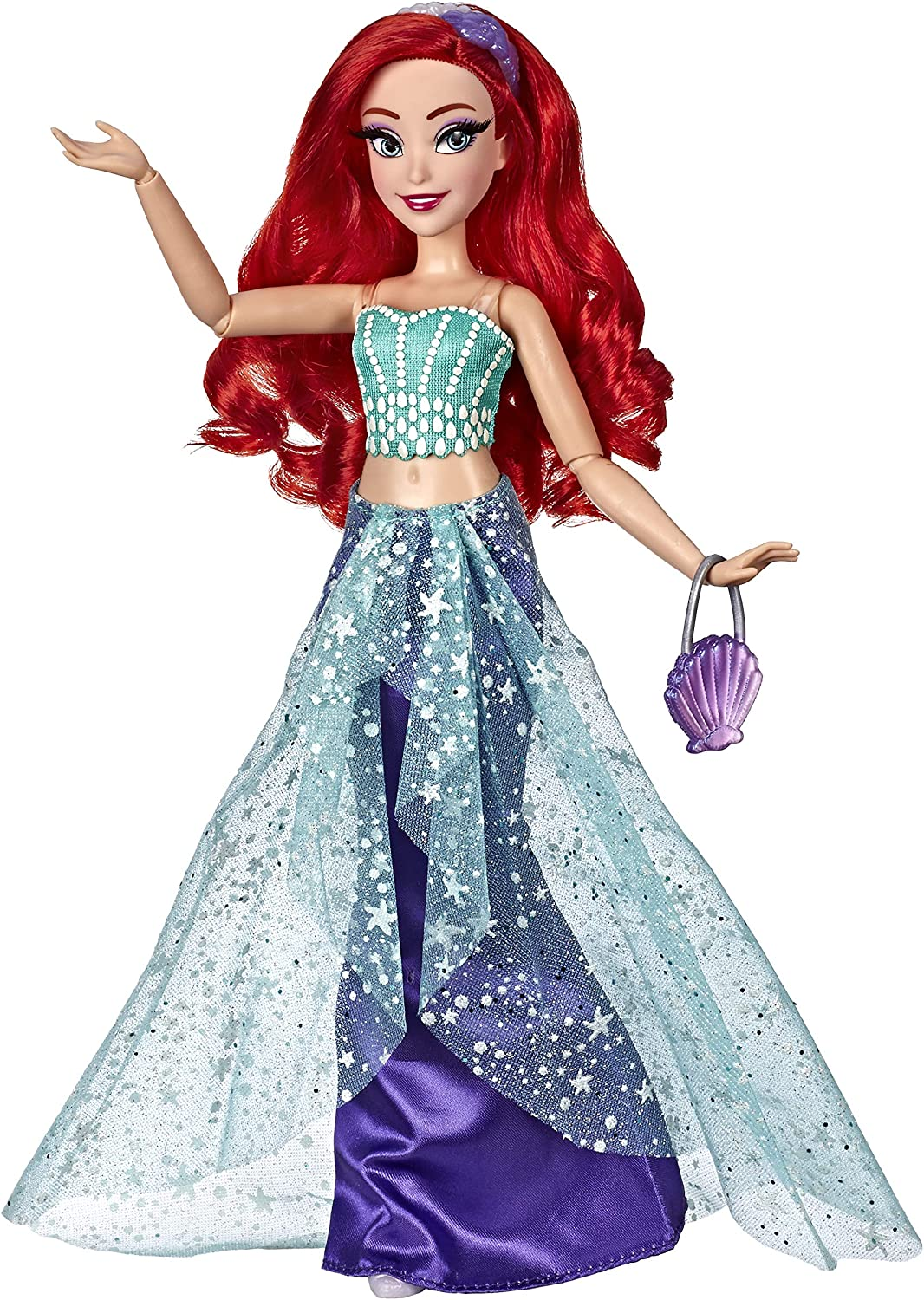 Amazon Com Disney Princess Style Series Ariel Doll In Contemporary Style With Purse Shoes Toys Games