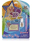 Pinkleaf 3D Glitter Body Art Kit for Kids with Reusable Stencils, Easy to Apply Sparkly Bling Temporary Tattoos for Little Girls, Boys, Parties, Festivals