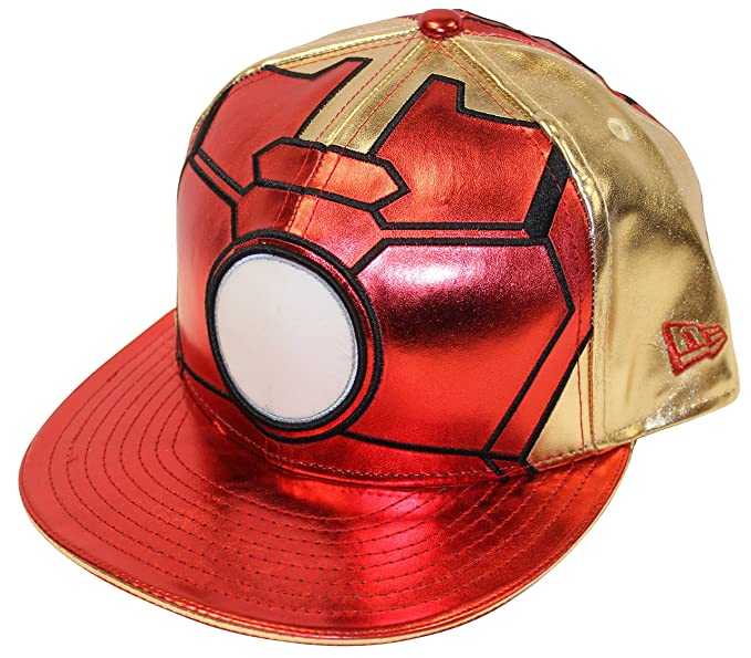 b377719f561 New Era 59fifty Character Armor Iron Man Red Gold Fitted Cap (7 1 4 ...