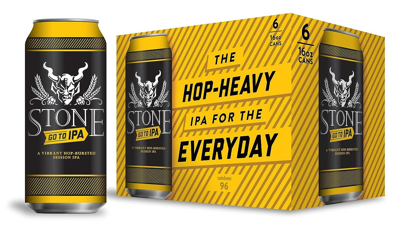 アメリカ クラフトビール業界のカリスマ ブリュワリー ストーン ゴートゥー IPA 473ml x 24本  B074WNHMP1