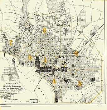Amazon Com Mapa Historico Del Mapa Estadistico Nº 9 Que Muestra