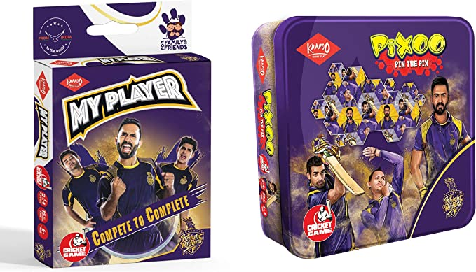 Kaadoo My Player-KKR-Cricket card game and Pixoo-KKR-Cricketer Puzzle Game