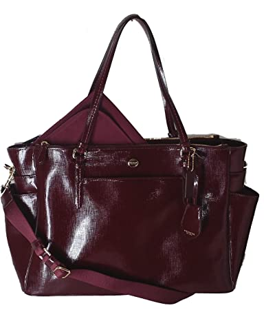 dca51d3885 Amazon.com   Coach Peyton Saffiano Leather Multifunction Baby Diaper Travel  Laptop Tote Bag   Baby